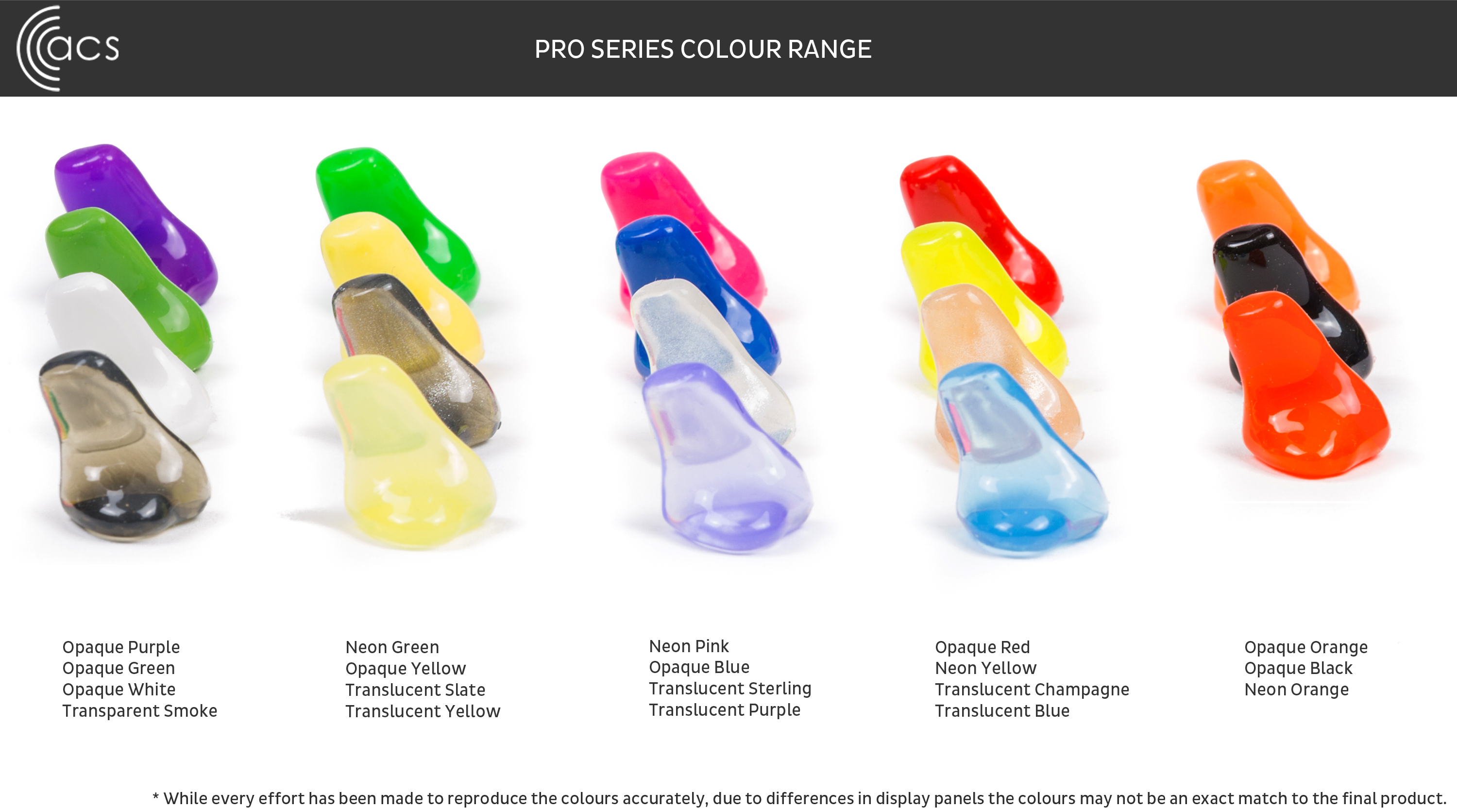 Pro Series ear protection colours